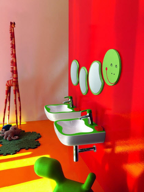 Colorful Kids Bathroom Decor by Laufen | In Seven Colors