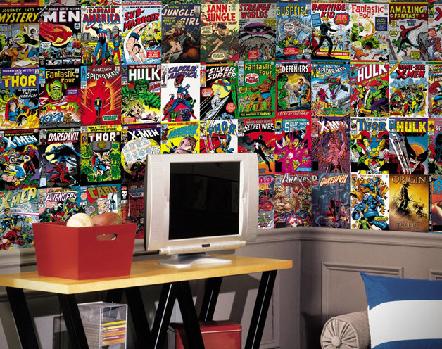 Comic Book Cover Wallpaper Mural | In Seven Colors - Colorful ...