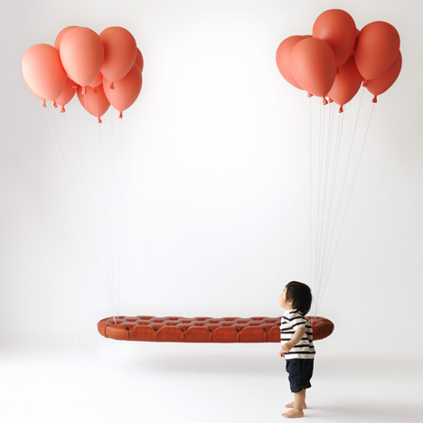 Unique Outdoor Bench: Floating Balloon Bench | In Seven Colors